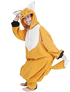 Ninimour- Pajamas Anime Costume Adult Animal Cosplay (L, Fox)