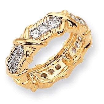 Vermeil Unity Ring - Size 6 - JewelryWeb
