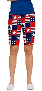 Betsy Ross Loudmouth Ladies Golf Shorts by Loudmouth Golf