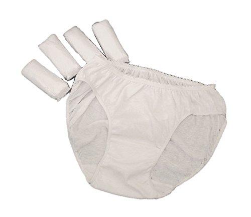 Slip Donna Monouso in Cotone (5 paia) XX-LARGE - Biancheria Intima Monouso Super Morbido Qualità Premium per Maternità Dopo Parto Vacanze e Ospedale