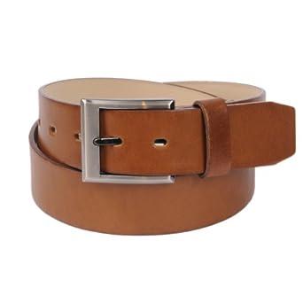 Landes Men's Classic Solid Faux Leather Tan Belt 44