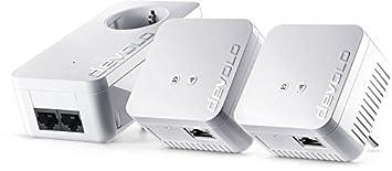 Devolo dLAN 550WiFi Adaptateur Powerlan (500Mbit/s, complément, 1x port LAN, Power Line WiFi, répéteur WiFi, amplificateur, range+, WiFi Move, boîtier compact) Blanc avec WLAN et range+ Netzwerk Kit blanc