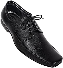 JUTAZ Black Mens Formal Shoes B01GG62KKY