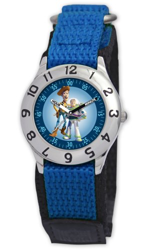 Disney Kids' D013S501 Toy Story Time Teacher Blue Velcro Watch