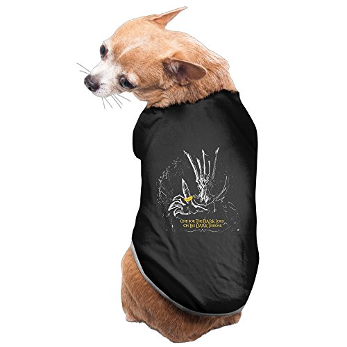 [Lovely Pet Supplies One The Dark Lord On His Dark Throne Dog Outfit] (Sauron Costumes)