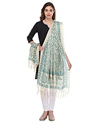 Riti Riwaz Bhaghalpuri Silk Printed Blue and Off White Dupatta VARSS16DUP110044