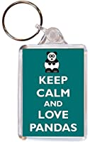 Keep Calm Love Pandas - Double Sided Large Keyring Gift/Present/Souvenir