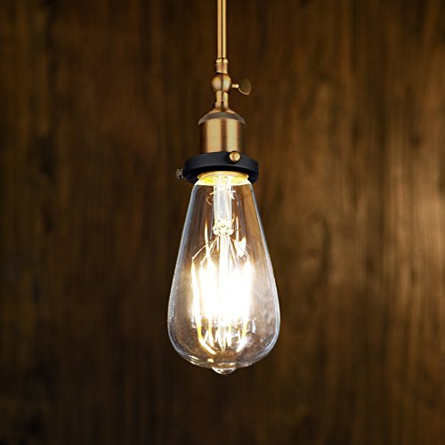 Antique LED Bulb, Oak Leaf 4w ST64 Vintage Edison Light Bulb LED Lighting Soft White 2700K pack of 6 2