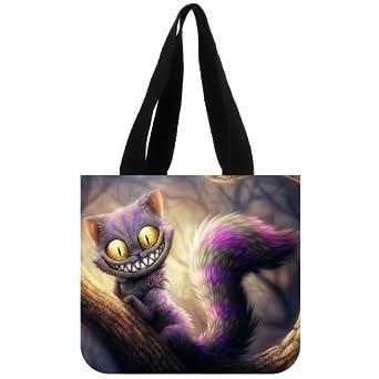 Custom Disney Alice in Wonderland Cat Tote Bag