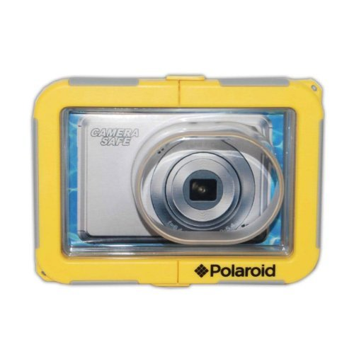 Polaroid Dive-Rated Waterproof Camera Housing For The Canon Powershot A4000 IS, A3500, A3400, A3300, A3200, A3100, A3000, A2500, A2400, A2300, A2200, A1200, A1100, A800, A495, A490, ELPH 530 HS, 520 HS, 510 HS, 500 HS, 320 HS, 310 HS, 300 HS, 130 HS, 115 HS, 100 HS, 110 HS, SD4000, SD3500, SD1400, SD1300, S95, SD940, SD960, SD970, SD980, SD1200, SD780, S100 Digital Cameras