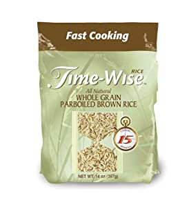 Amazon.com : Time-Wise Whole Grain Parboiled Brown Rice