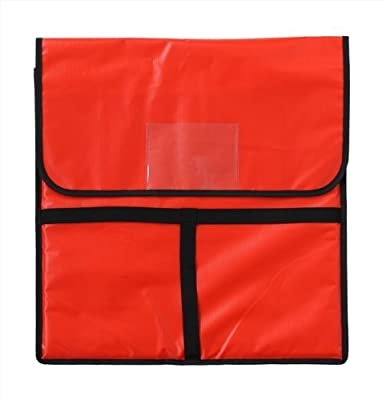 New Star Foodservice | Insulated Pizza Delivery Bag, Rectangle, Red & Black Color