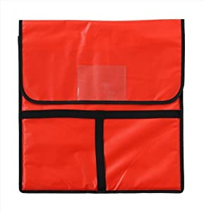 New Star Foodservice 50097 Insulated Pizza Delivery Bag, 20 by 20 by 5-Inch, Red