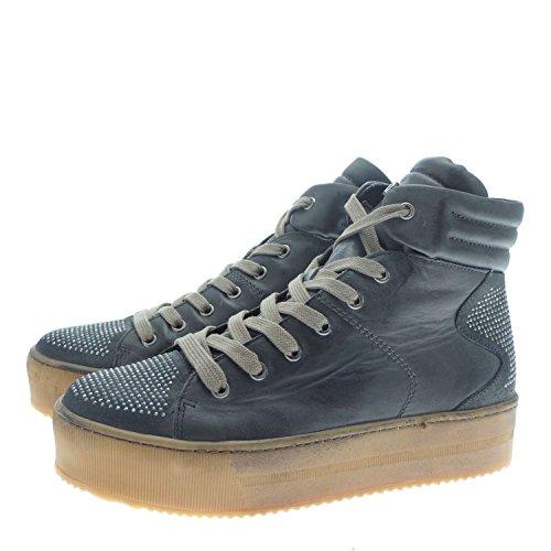 Janet Sport 34850 Sneakers Donna 100% Pelle Grigio Grigio 38