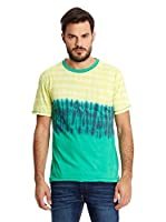 New Caro Camiseta Manga Corta Tie Dye (Verde / Amarillo)
