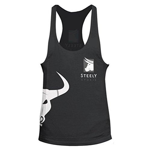 "Stringer ""Classic Logo"" Tank-Top Taglie: S - sportivo maglietta Bodybuilding Fitness - Steely-Sports"