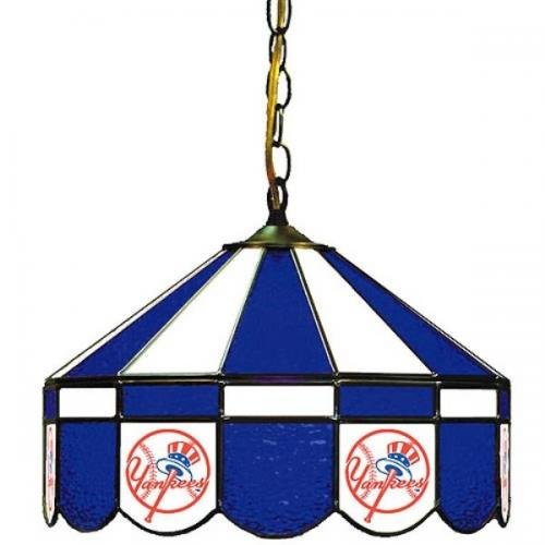 MLB New York Yankees 16-Inch Diameter Stained Glass Pub Light at Amazon.com