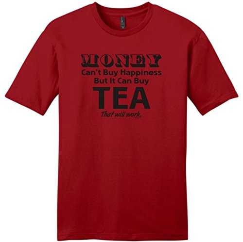 Money Can'T Buy Happiness But It Can Buy Tea Young Mens T-Shirt Large Classic Red