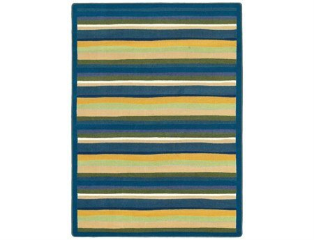 "Joy Carpets Kid Essentials Active Play & Juvenile Yipes Stripes Rug, Bold, 7'8"" x 10'9"" - 1"