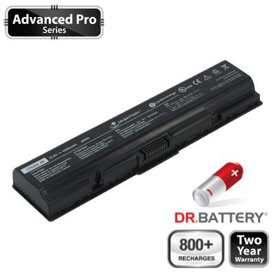 Dr. Battery Advanced Pro Series Notebook Akku für Toshiba Satellite L500-208 (4400mah / 48wh) 800+ Ladezyklen. 2 Jahr Garantie