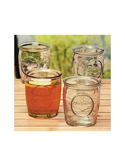 Circleware Set of 4 Yorkshire 14-Oz. Double Old Fashioned Glasses, Clear