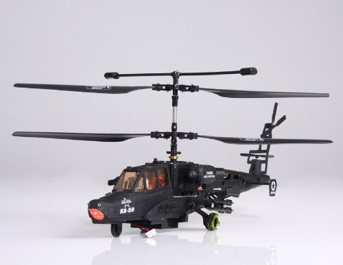 FeiHu 3 Channels FM Wireless RC Apache Helicopter with Gift Box and Light (Black)