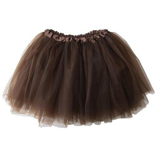 Ballerina Basic Girls Dance Dress-Up Princess Fairy Costume Dance Recital Tutu (Brown) by So Sydney