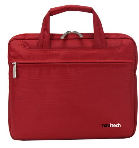 Navitech Ruby Red Sleek Premium Water Resistant Shock Absorbent 10.2 to12.1 Laptop/ Netbook/ Notebook Carry Bag Case For Compaq Mini 702, 702E, MSI WIND U1, Lenovo ideapad S10 & S10e, Fujitsu Siemens' Amilo Mini, Dell Latitude 2100, Atom N270, Samsung N310, Medion Akoya E1312 mini Notebook, Lenovo ideapad S9 S9e S10-2, Compaq Mini 110c, Hercules eCafe EC-1000W netbook, HP Pavilion DM1, HP Mini 110-1130SA, Samsung 210, N220, N150 and NB30