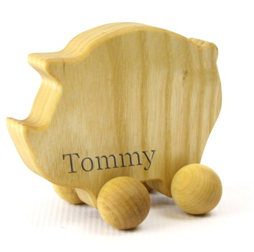 Personalized Eco-Friendly Wooden Pig Push Toy For Babies & Toddlers front-677394
