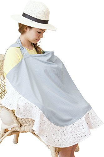 Sweet Mommy Cotton Lace Wired Nursing Cover with carrying pouch BLF