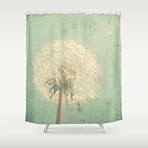 society6 dandelion clock shower curtain by