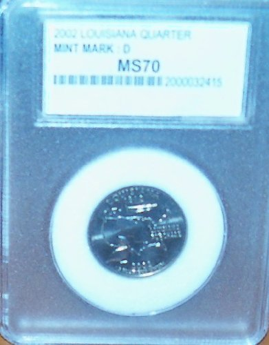 2002 D Uncirculated Louisiana State Quarter Us Coin