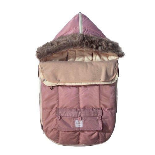 Imagen de 7 a.m. Enfant Le Sac Igloo extensible bebé bolsa Bunting Adaptable para cochecitos, Rose, Medio