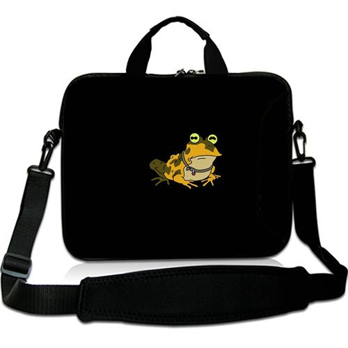 Cartoon 15 Inch Laptop Shoulder Bag with Hypnotoad Futurama(Both Sides)Patterns Waterproof Canvas Fabric for 15 15.6 Inch Laptop
