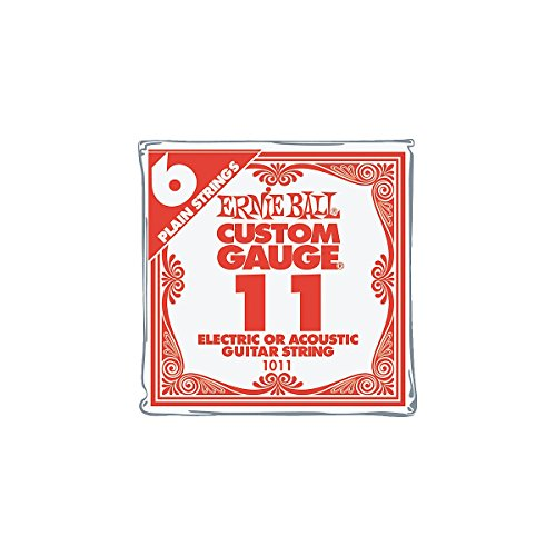 Ernie Ball Nickel Plain Single Guitar String .011 6-Pack (Single Electric Guitar Strings compare prices)