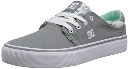 DC Women's Trase TX SE Skate Shoe, Grey Feather Camo, 5 M US