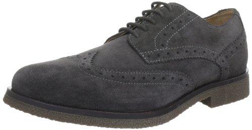 Geox  U CLAUDIO J,  scarpe stringate modello Brogue uomo, Grigio (Grau (MUD C6372)), 39
