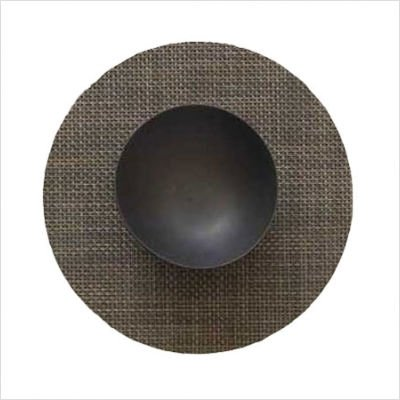 Round Woven Vinyl Placemat Texture/Color: Basketweave/Grass Green