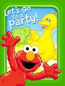 Sesame Street Invitations and Thank You Notes