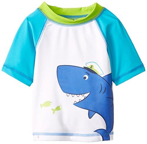 Little Me Baby Boys Shark Rashguard White Print 24