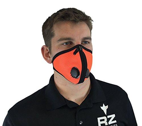 RZ-DustPollution-Mask-Bonus-Pack-w5-Laboratory-Tested-Filters-Model-M2-Mesh-Orange-Size-Regular