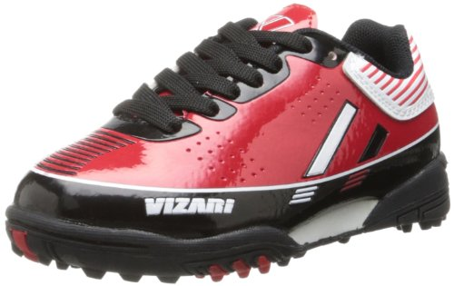 Vizari Toledo TF Soccer Shoe ,Red/Black,12.5 M US Little Kid