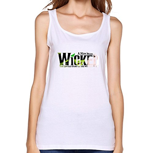 [AOPO Summer O-Neck Wicked Broadway Musical Play Tank Top For Women Large] (Miley Cyrus Disney Costume)