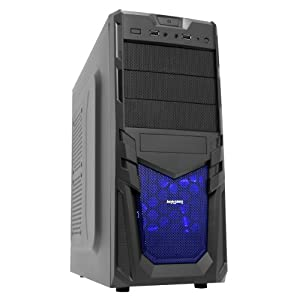 Fierce COLONEL Powerful Fast Gaming PC, Budget Desktop Computer, 2 YEAR WARRANTY (3.40GHz Quad Core, 16GB RAM, 1TB Hard Disk, Radeon R9 280X 3GB Graphics) Ideal For Home, Office, Work, Family, Back To School, University, Desktop PC, Multimedia Player. Supports Full HD 1080p.