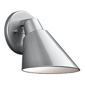 Kichler Lighting 49082PL Beach Light 7IN 1LT Exterior Wall Mount, Platinum Finish by Kichler Lighting