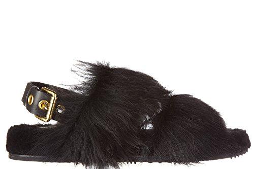 Car Shoe sandali donna in pelle originale montone gitana nero EU 37 KDX12M 3H1I F0002