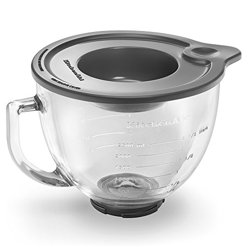 KitchenAid K5GB 5-Qt. Tilt-Head Glass Bowl with Measurement Markings & Lid