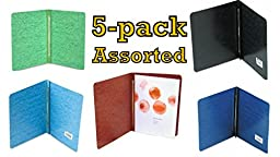 ACCO Pressboard Report Cover, Letter, 5 pack (Assorted)