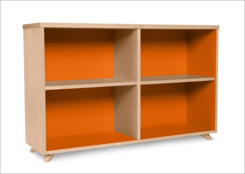 True Modern Low Bookcase in Popsicle Orange