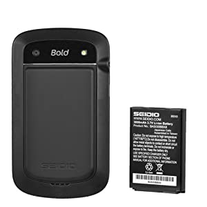 Seidio BACY30BB9900-BK Innocell 3000mAh Extended Life Battery for BlackBerry Bold 9900/9930 - Battery - Retail Packaging - Black